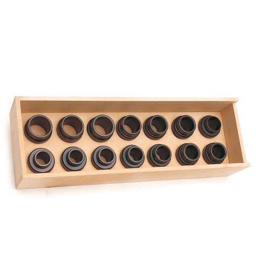 jogo de ferramentas para instalar e guiar retentores de bengalas com 14 peças