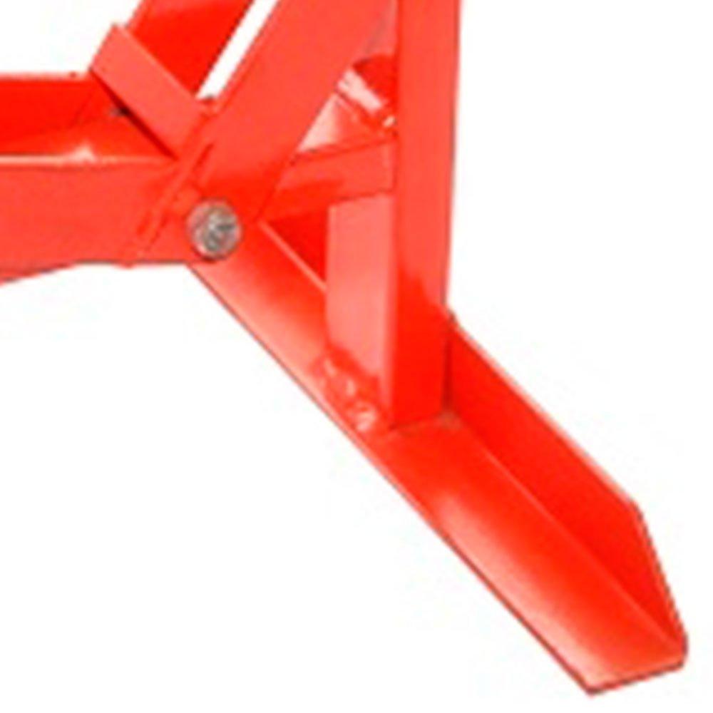 Cavalete Mecânico Central Vermelho para Motocicleta Cross  - Imagem zoom