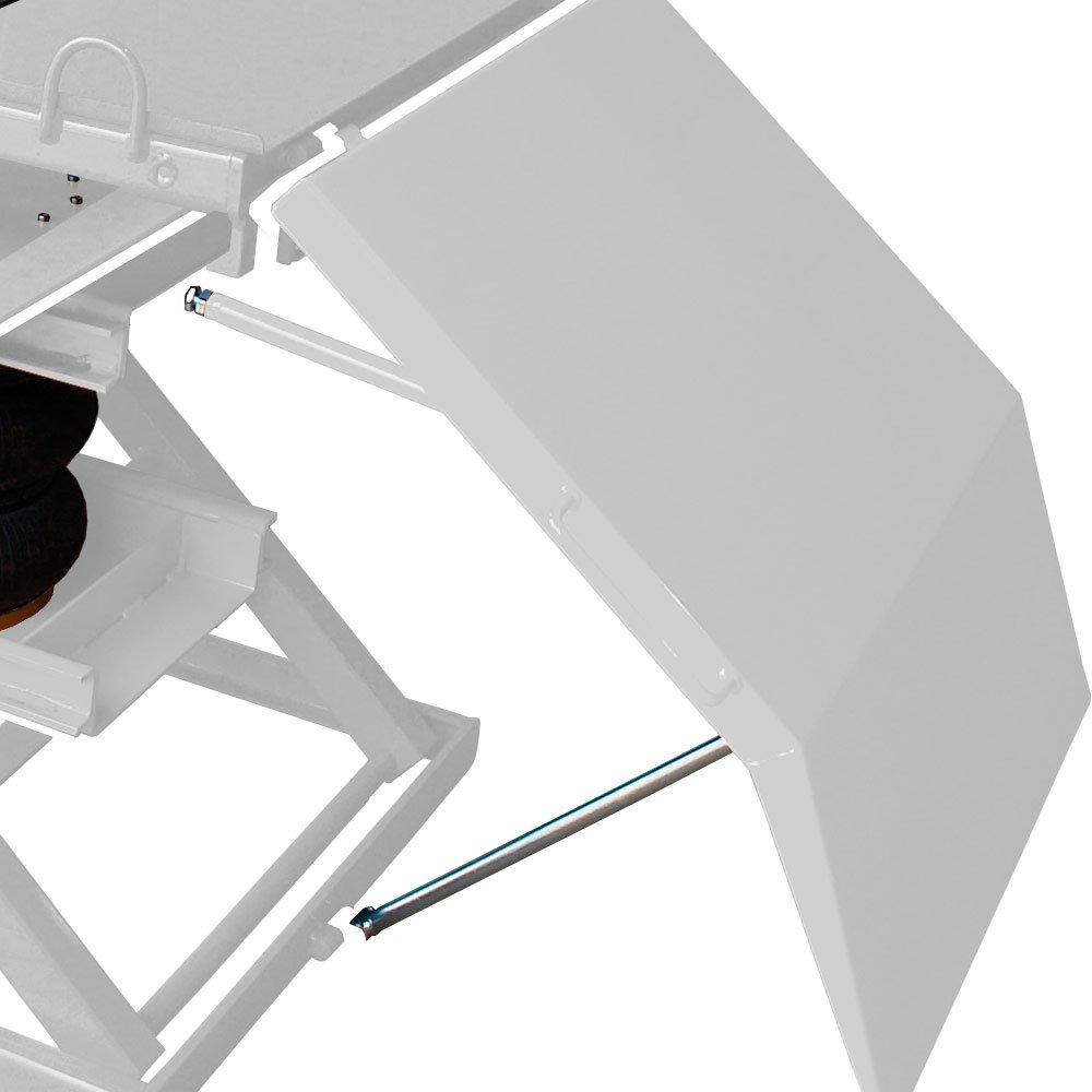 Rampa Pneumático para Motos com Capacidade de 450Kg Branco - Imagem zoom