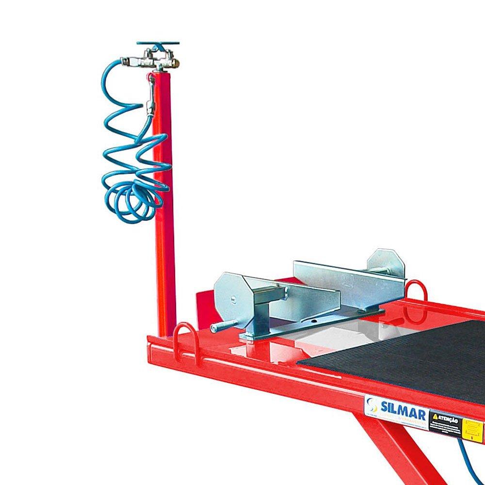 Elevador Pneumático para Motos 500Kg SP500 Vermelho/Cinza - Imagem zoom