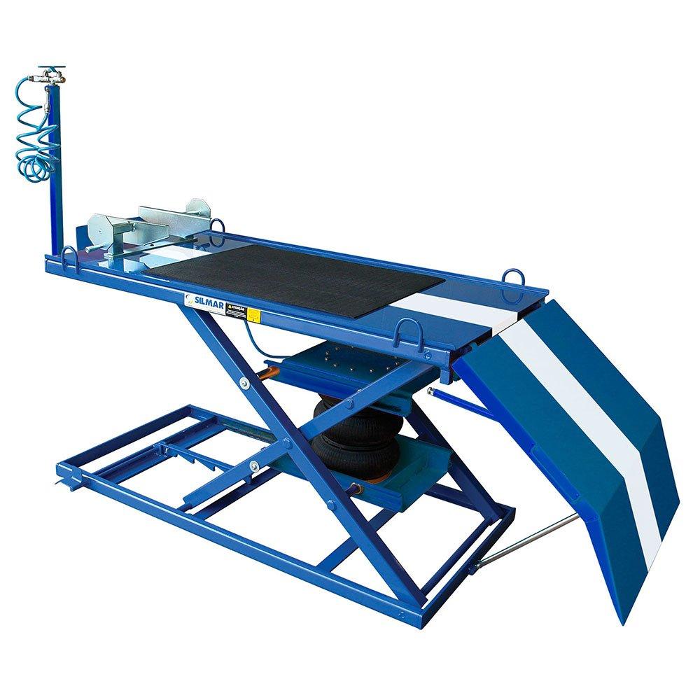 Elevador Pneumático para Motos 500Kg SP500 Azul/Branco - Imagem zoom