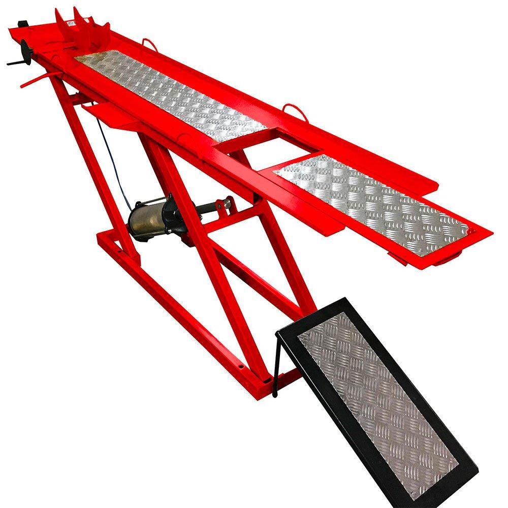 Rampa Pneumática Vermelha 1 Pistão para Motos de 250Kg - Imagem zoom