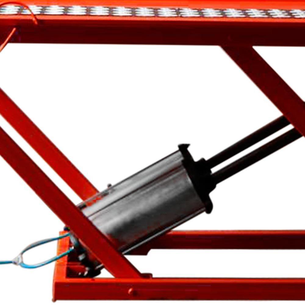 Rampa Pneumática Pit Stop 2 Pistões para Moto 350Kg Vermelha - Imagem zoom