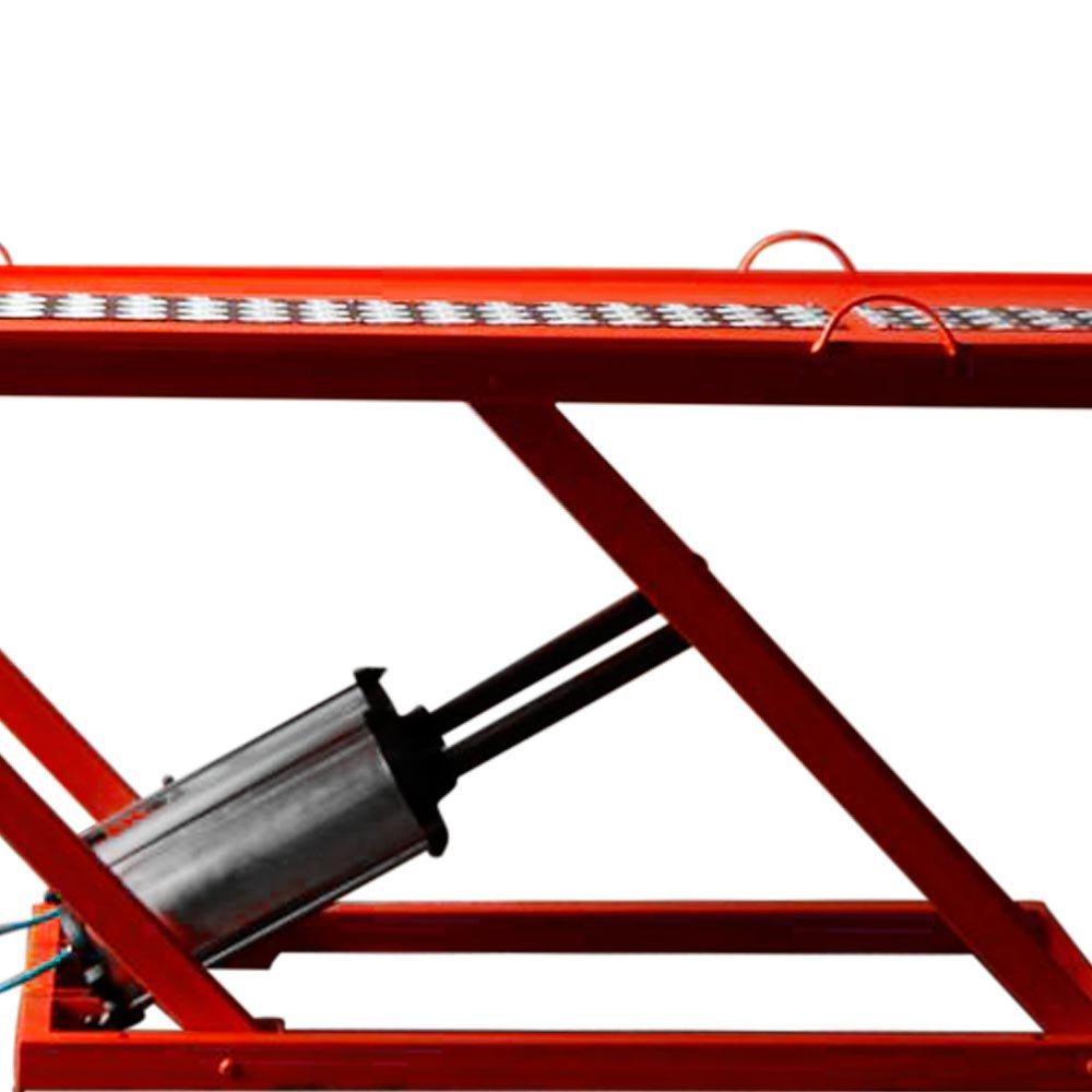 Rampa Pneumática Pit Stop Vermelha 2 Pistões para Motos 350Kg - Imagem zoom