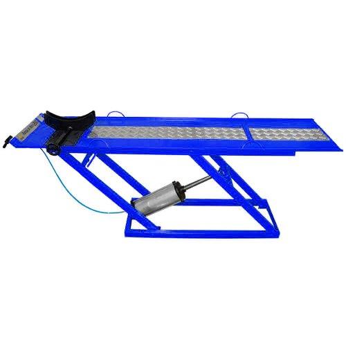 rampa pneumática pit stop azul para motos de 250 kg com 1 pistão