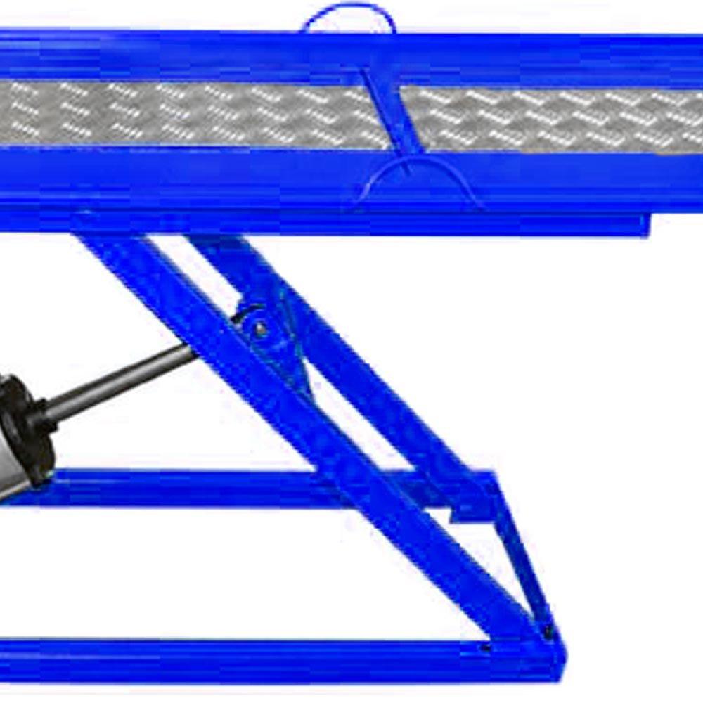 Rampa Pneumática Pit Stop Azul 1 Pistão para Motos 250 Kg  - Imagem zoom