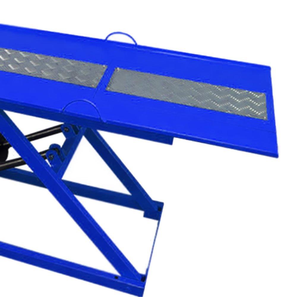 Rampa Pneumática Pit Stop Azul 2 Pistões para Motos 350Kg - Imagem zoom