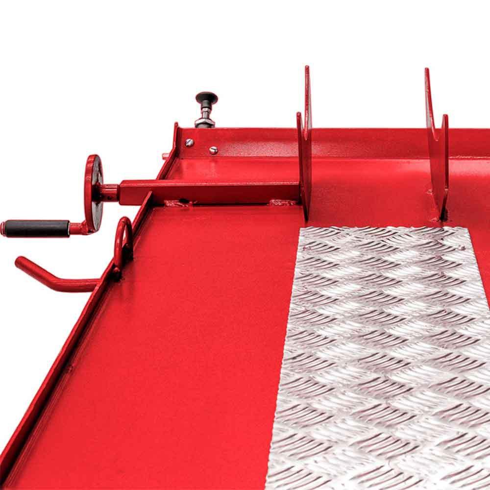 Elevador/Rampa Pneumática para Moto 250Kg Vermelho - Imagem zoom