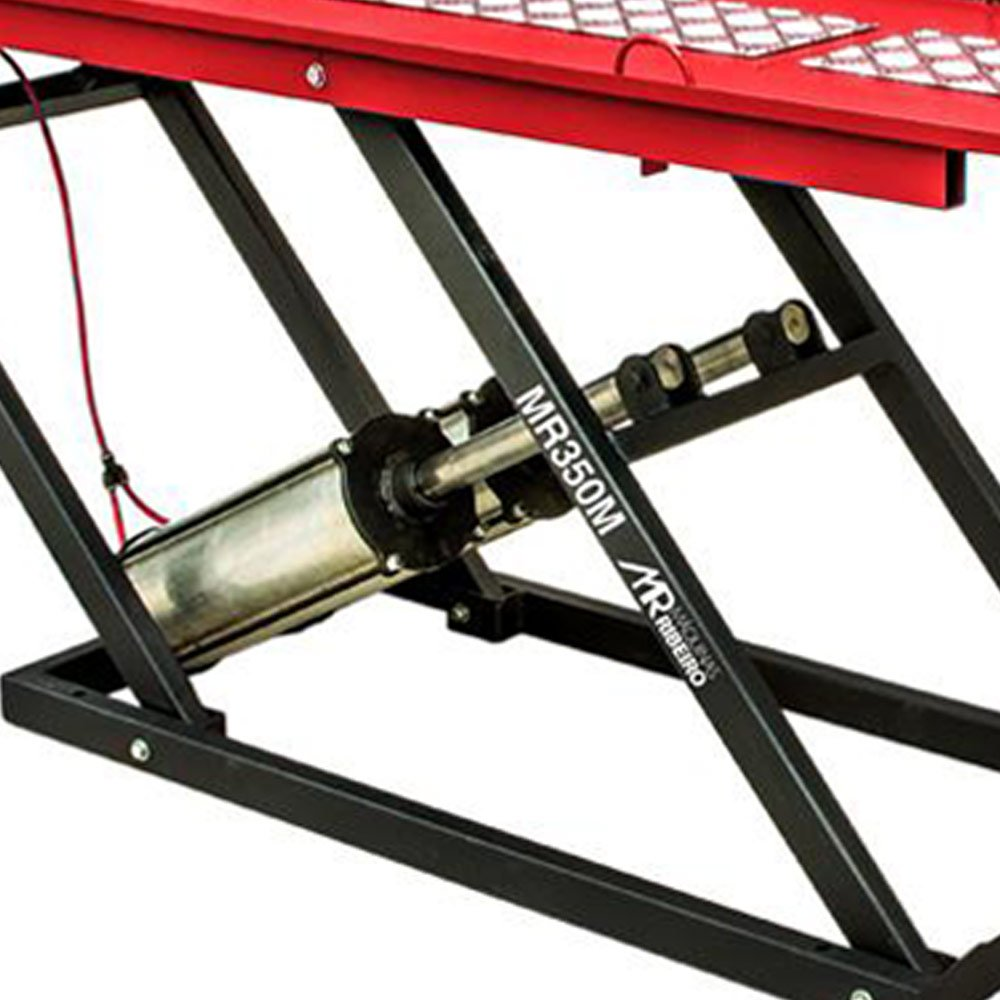 Elevador/Rampa Pneumática 350Kg para Moto - Vermelho - Imagem zoom