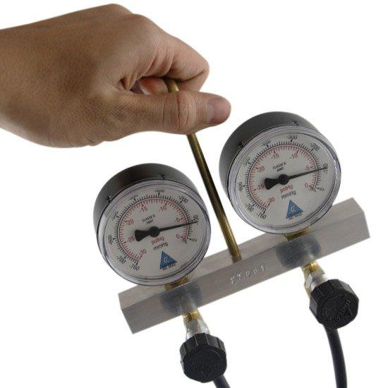 Vacuômetro de 2 Relógios Completo - Imagem zoom