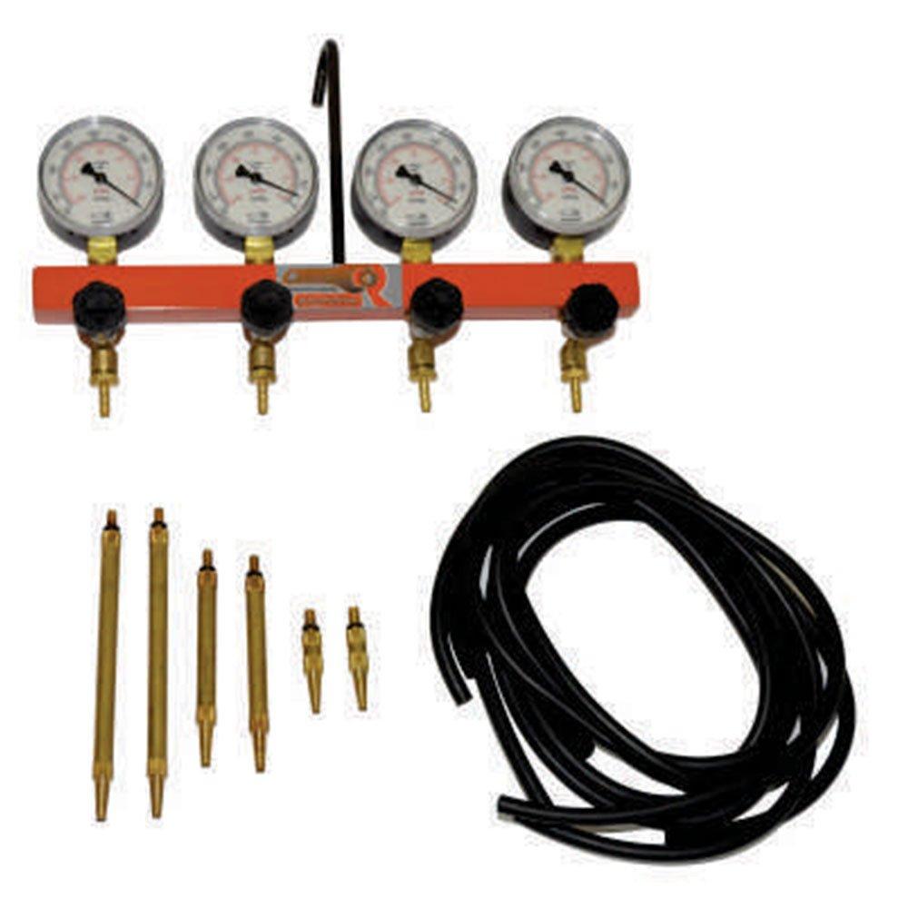 Vacuômetro de 4 Relógios Completo com Mangueiras e 6 Bicos - Imagem zoom