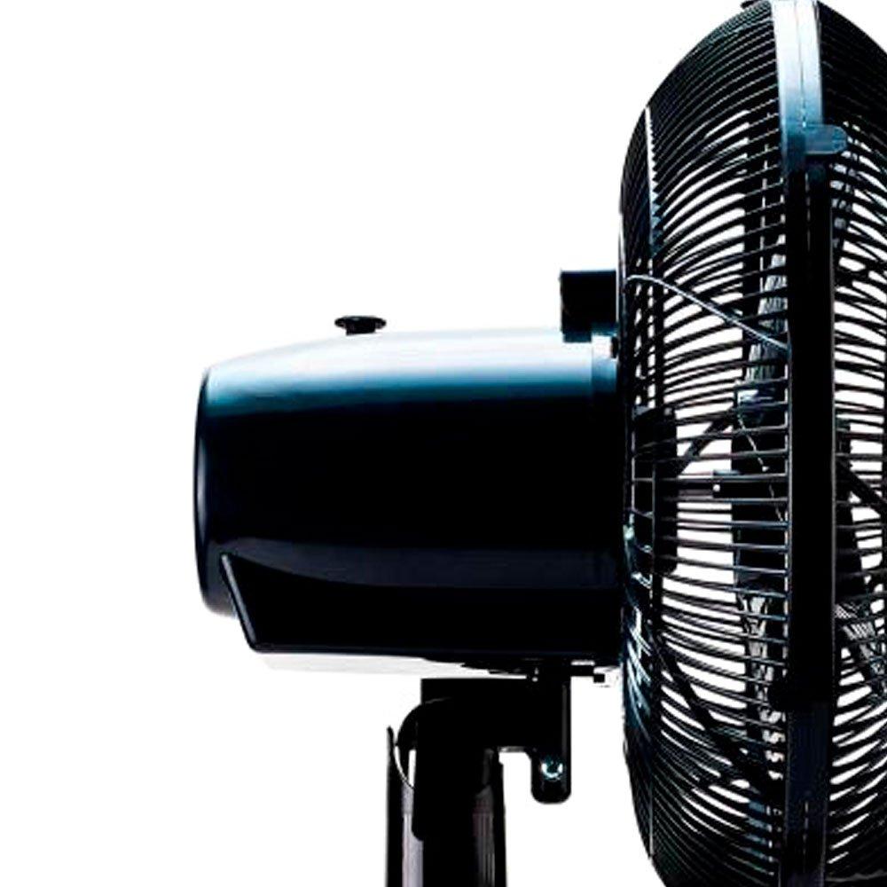 Ventilador Oscilante de Mesa 3 Pás 30cm  Preto - Imagem zoom