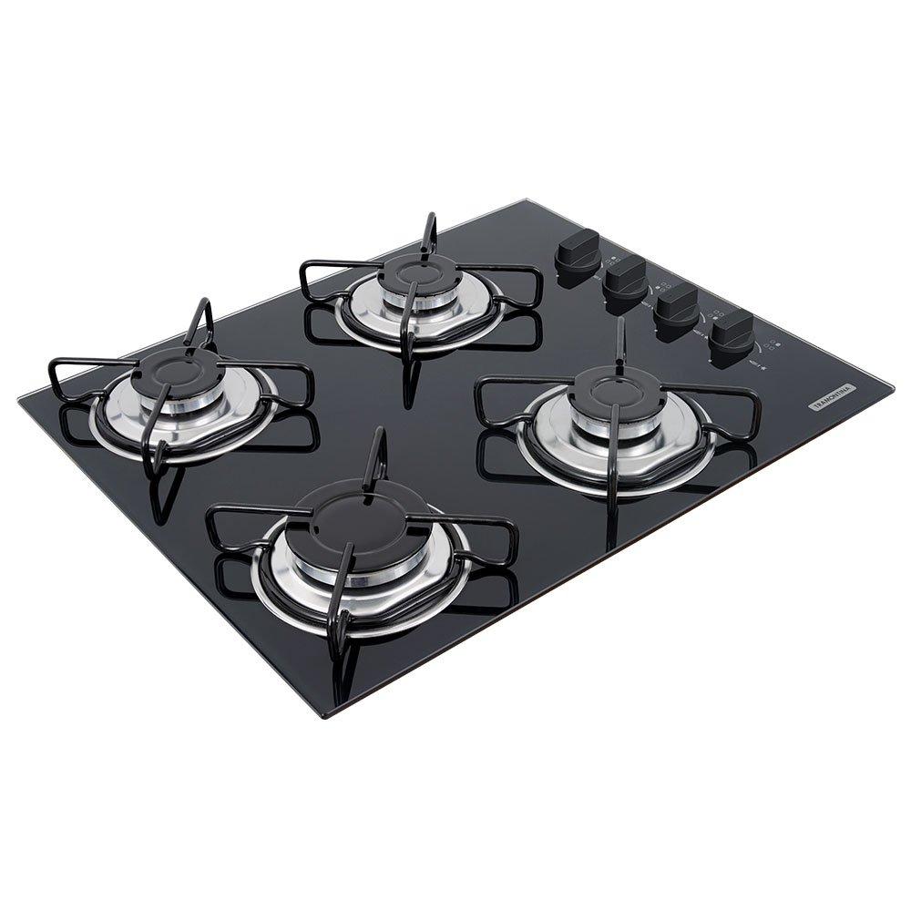 Cooktop Vidro Temperado com 4 Queimadores - Imagem zoom