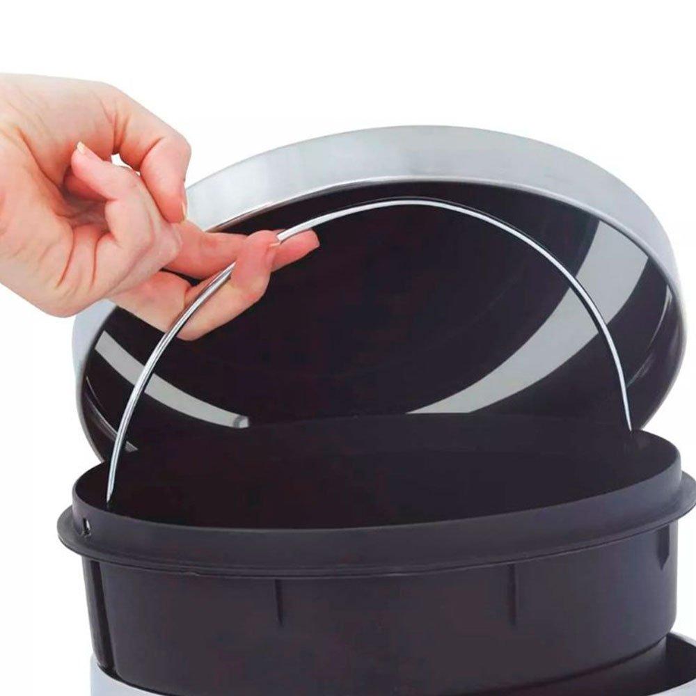 Lixeira de Inox Ágata com Pedal 20 Litros - Imagem zoom