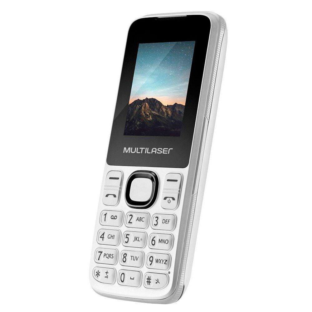 Celular New Up Dual Chip com Câmera, Bluetooth e MP3 Branco - Imagem zoom