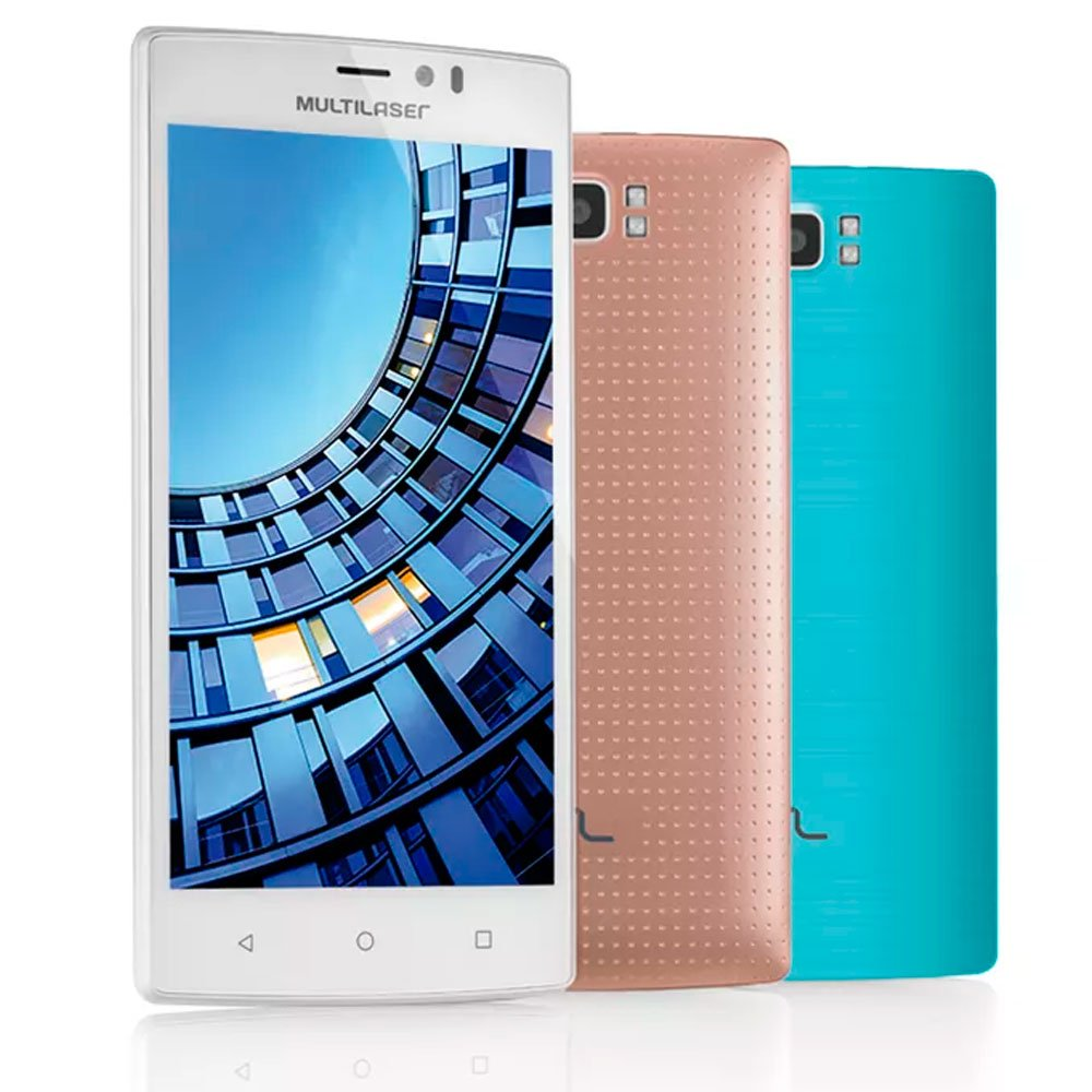 Smartphone MS60 4G QuadCore 2GB RAM Tela 5,5 Pol. Dual Chip Android 5 Branco - Imagem zoom
