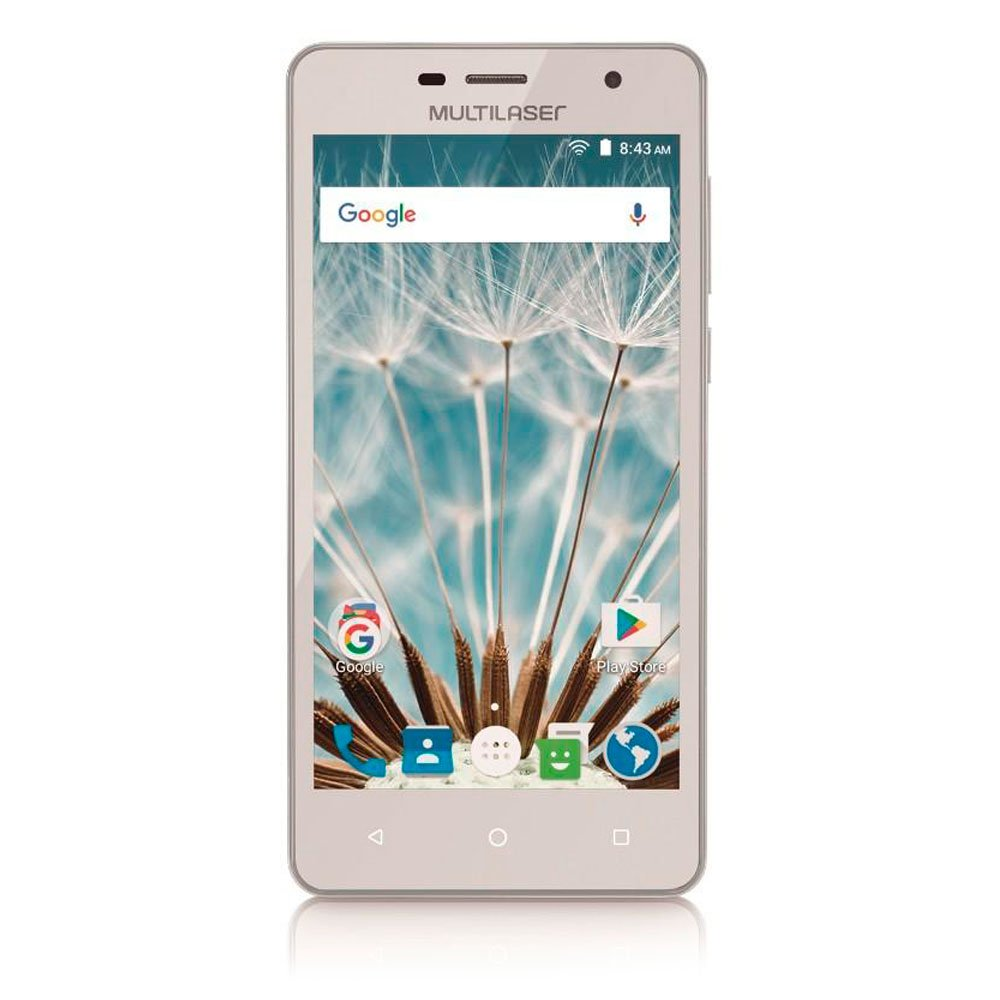 Smartphone 3G Dual Chip 5 Pol. Android 6.0 MS50S Branco + Micro SD 16GB - Imagem zoom