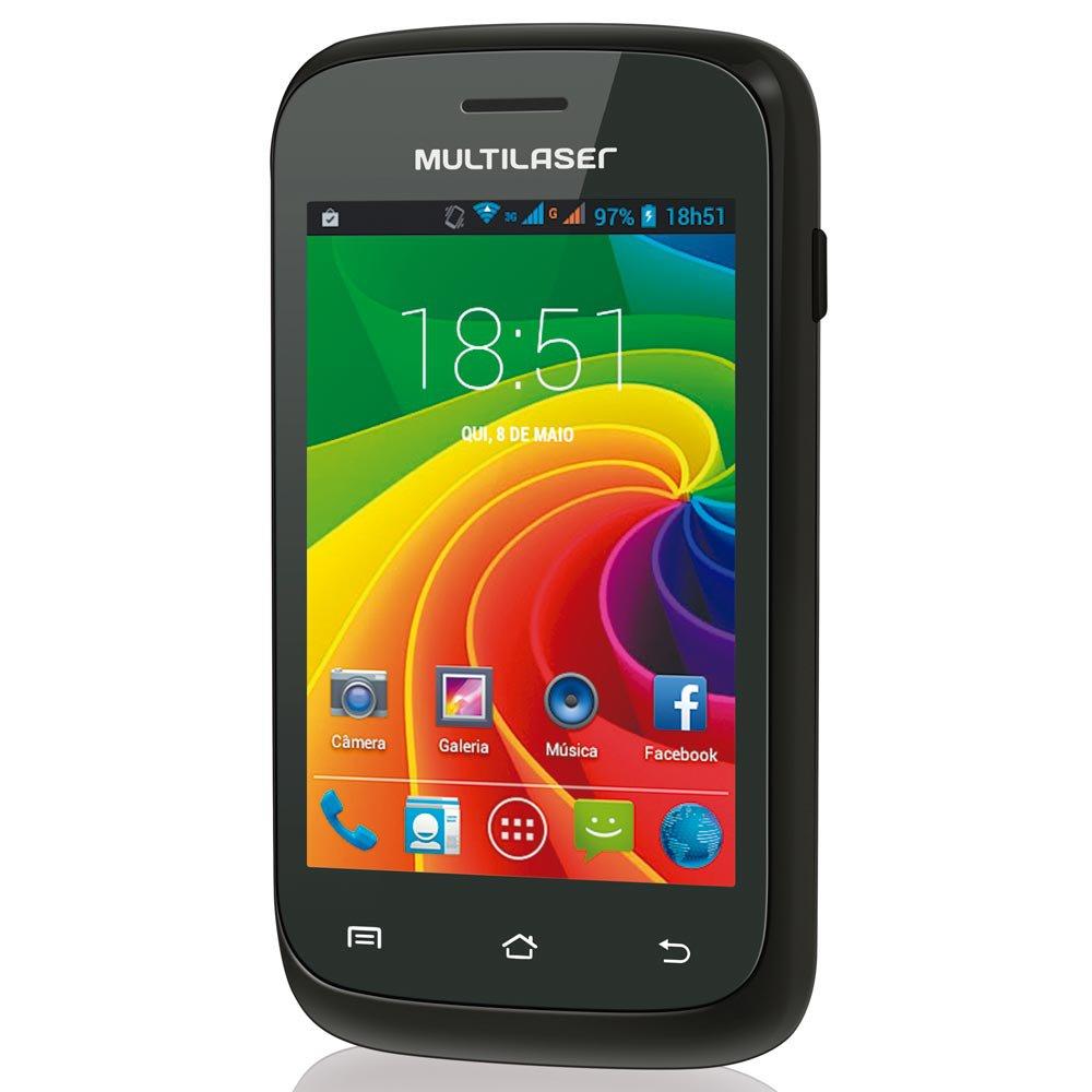 Smartphone Ms2 Preto Dual Chip Tela 3.5 Pol. - Imagem zoom