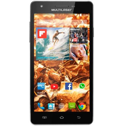 smartphone colors 5,5 pol. ms6 preto com android 4.4 com processador quad core 1,3ghz