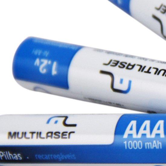 Pilhas Recarregáveis AAA 1000mAh com 4 Peças - Imagem zoom