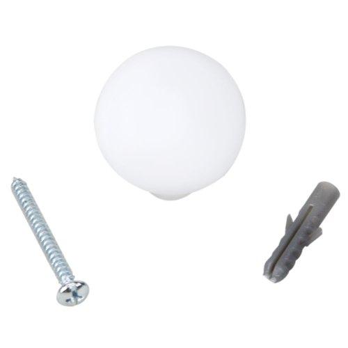 batedor para porta tipo bola branca