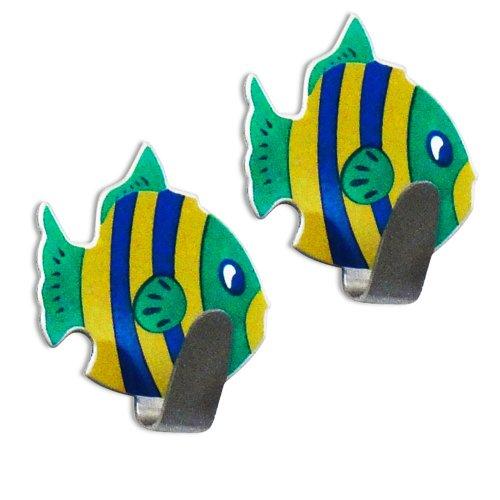 gancho peixinho tipo adesivo