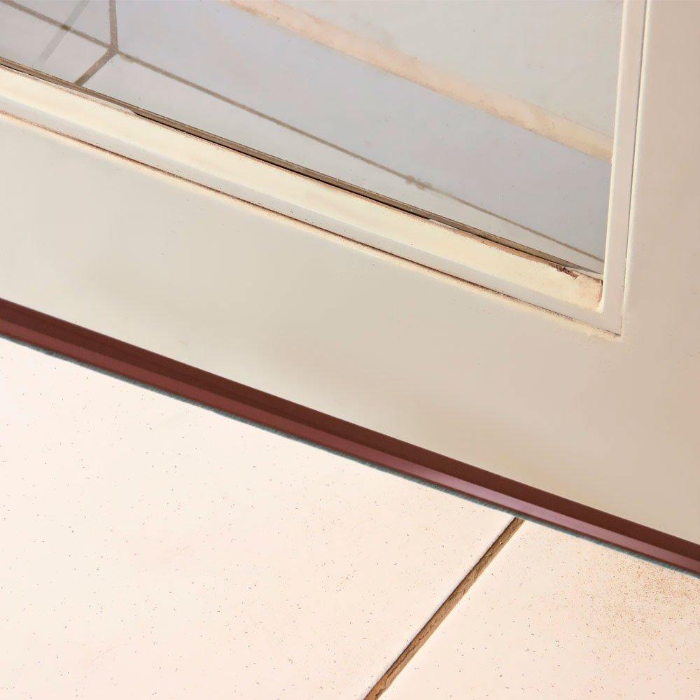 Friso para Porta com Escova Marrom 80cm - Imagem zoom