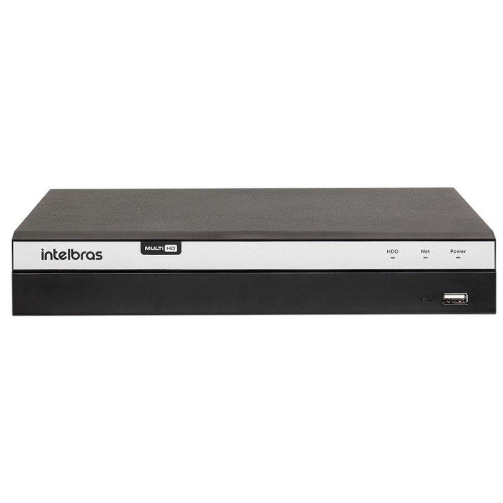 Kit Gravador Digital de Vídeo Multi HD Intelbras 4580330 + 4 Câmeras de Segurança Infravermelho Multi HD 30 Metros Intelbras 4565295 - Imagem zoom
