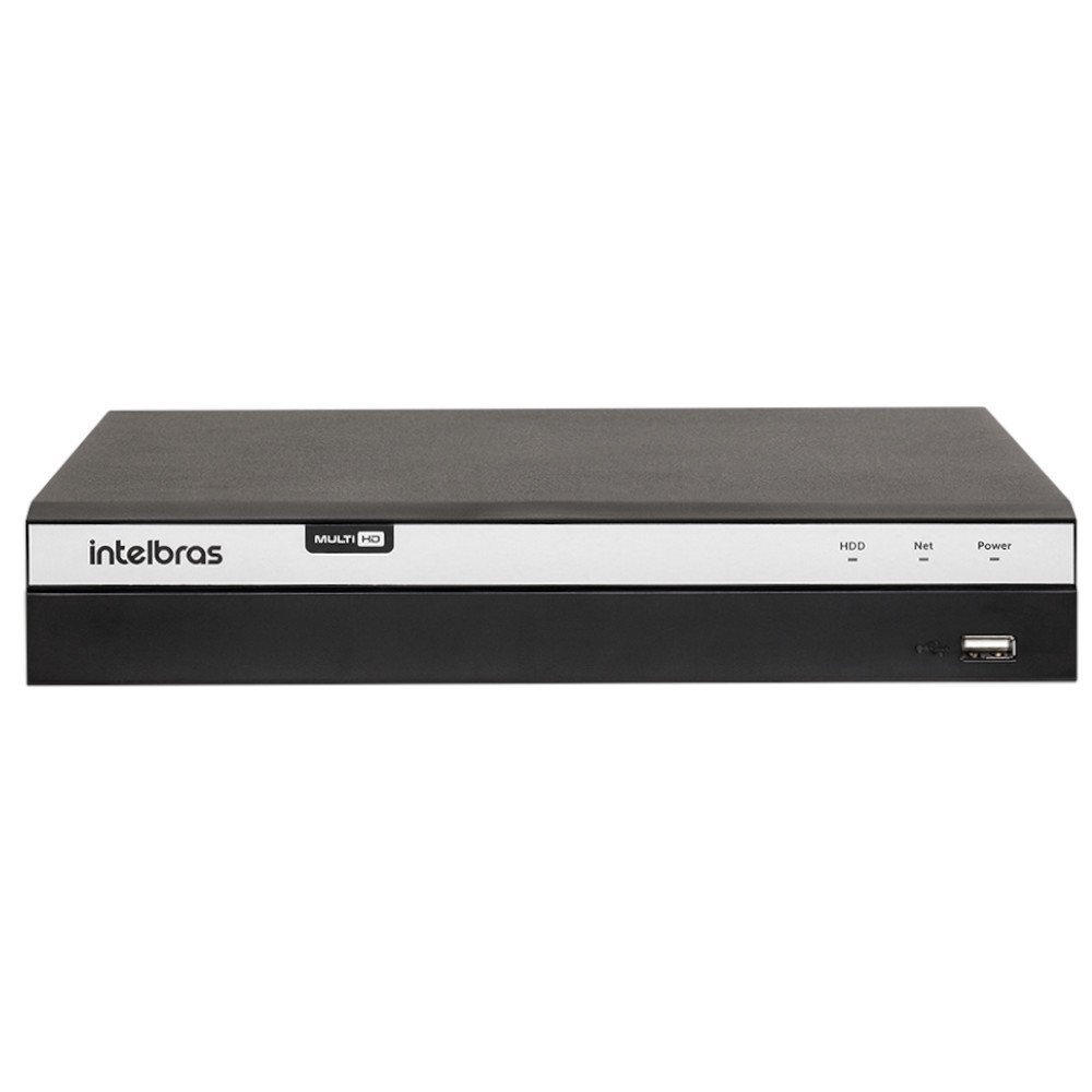 Kit Gravador Digital de Vídeo Multi HD Intelbras 4580331 + 8 Câmeras de Segurança Dome Full HD 20 Metros Intelbras 4565306 - Imagem zoom
