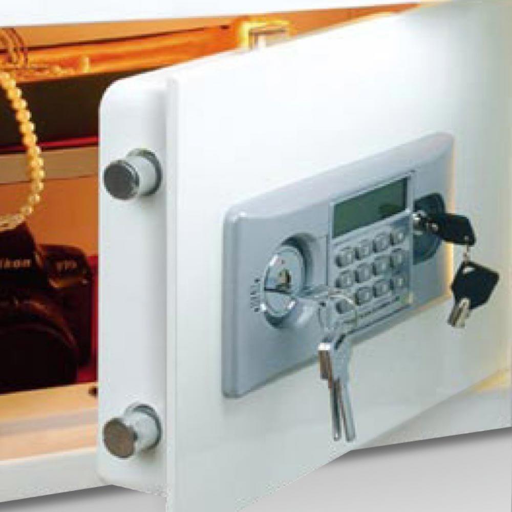 Cofre Branco Estilo Refrigerador - Imagem zoom