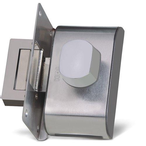 fechadura elétrica para porta de vidro cromada pv-90 1r