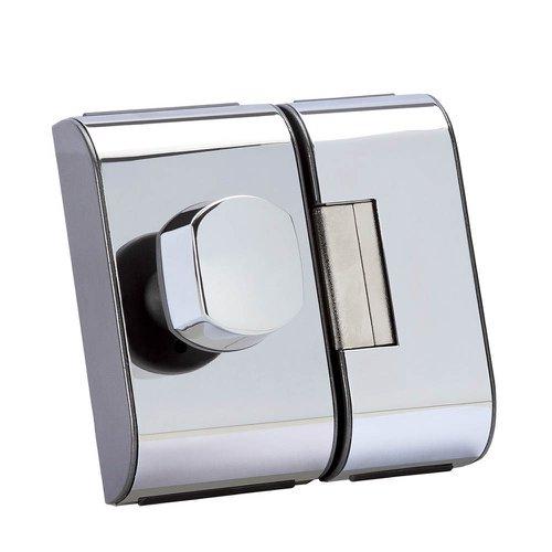 fechadura para porta de vidro pv-90 1f cromada