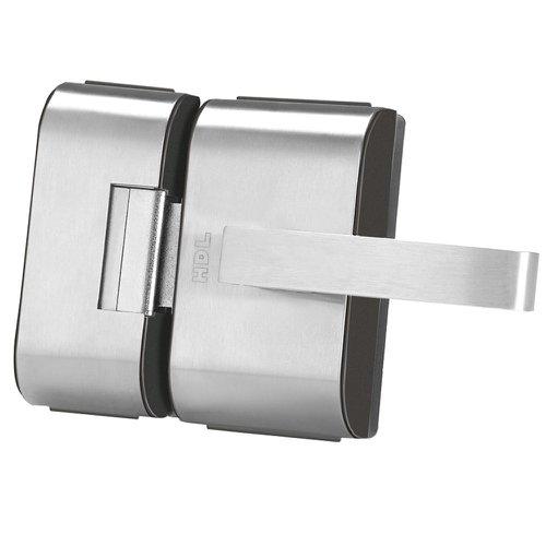 fechadura elétrica em inox para porta de vidro com 2 folhas pv90