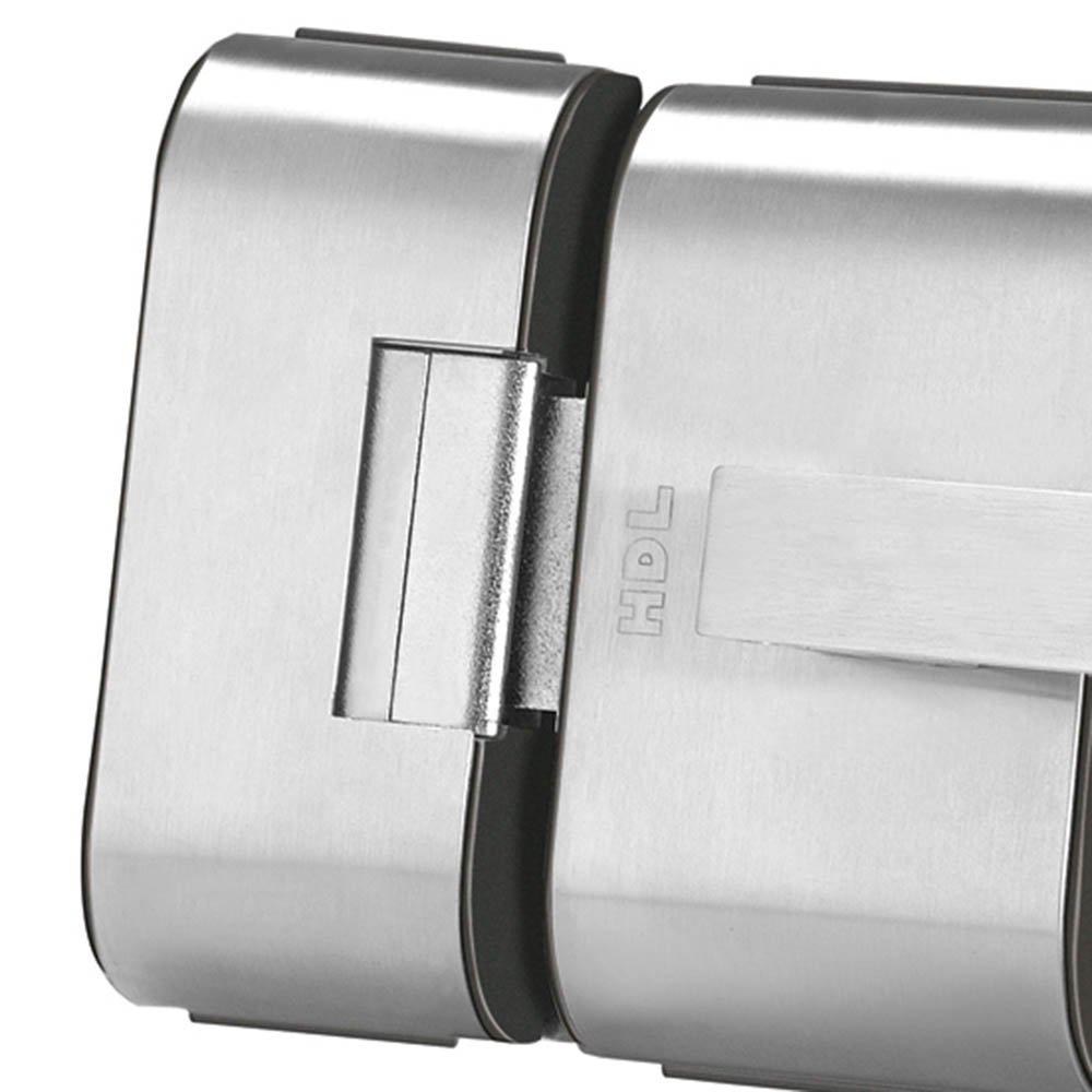 Fechadura Elétrica em Inox para Porta de Vidro com 2 Folhas PV90 - Imagem zoom