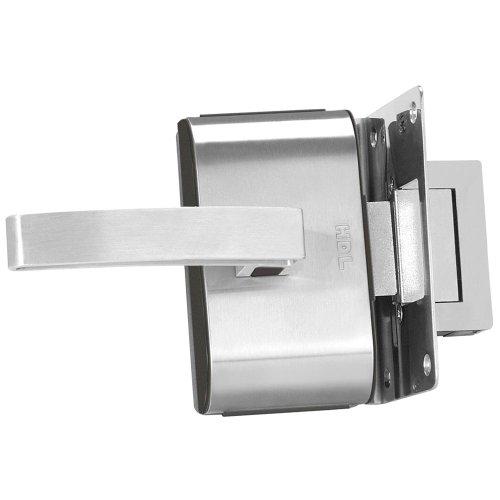 fechadura elétrica para porta de vidro com 1 folha com maçaneta em l - pv-90 1r
