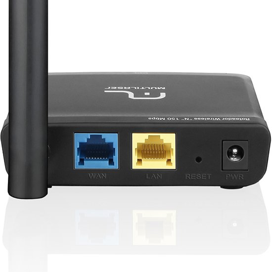 Roteador Wireless N 150 Mbps Compact Preto - Imagem zoom
