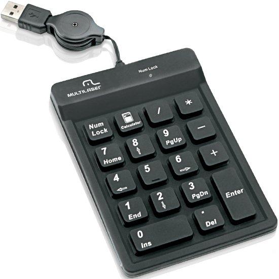 Teclado Numérico para Notebook Preto USB - Imagem zoom