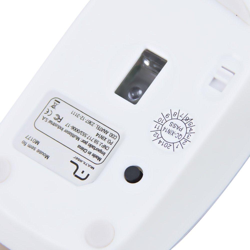 Mouse sem Fio Nano Rosa 1600 DPI - Imagem zoom