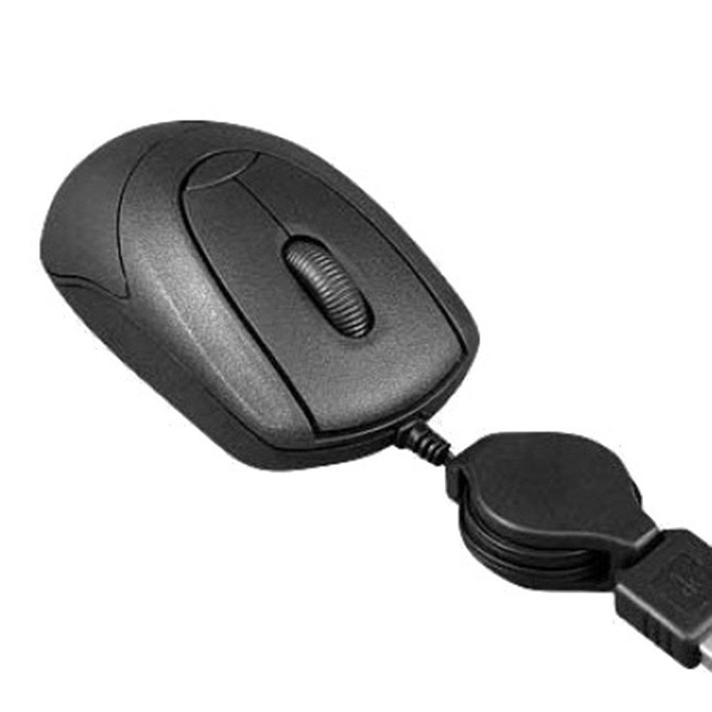 Mini Mouse Retrátil Usb Preto - Imagem zoom