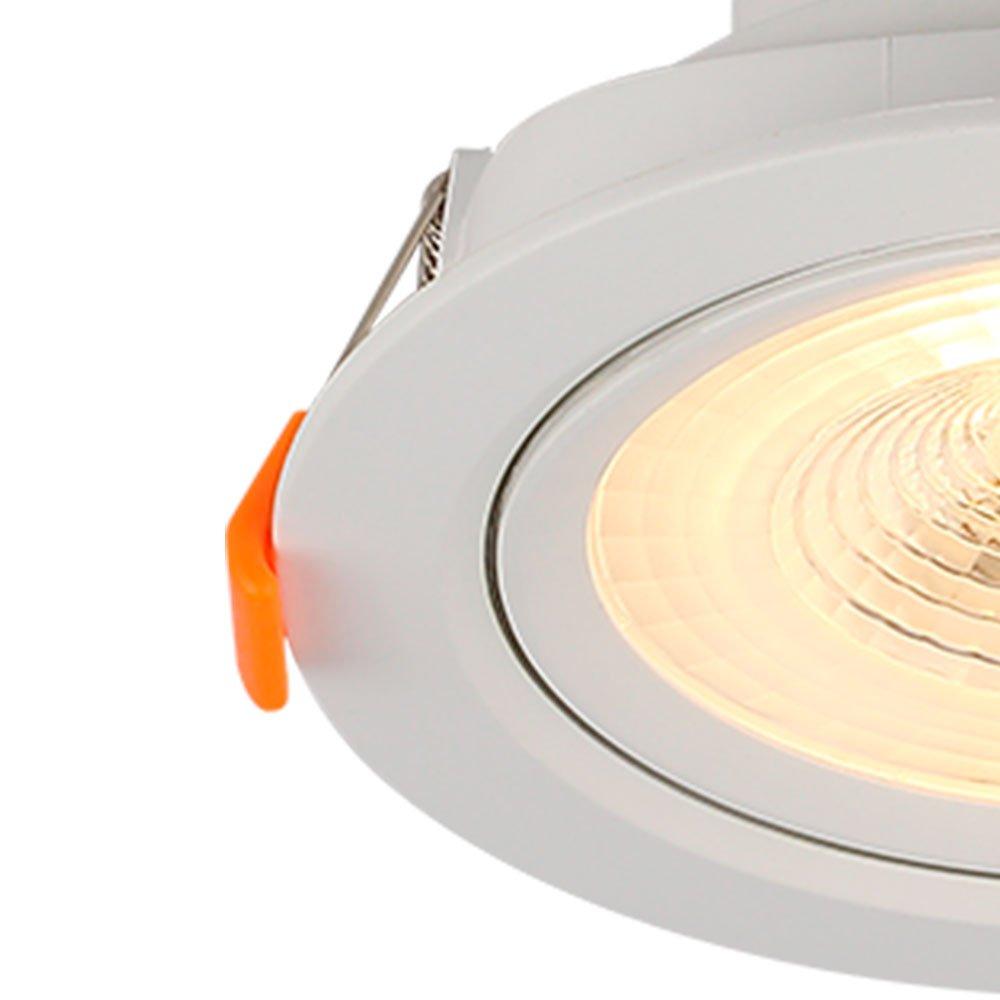 Spot Led Redondo 3000K Luz Amarela para Embutir - Imagem zoom