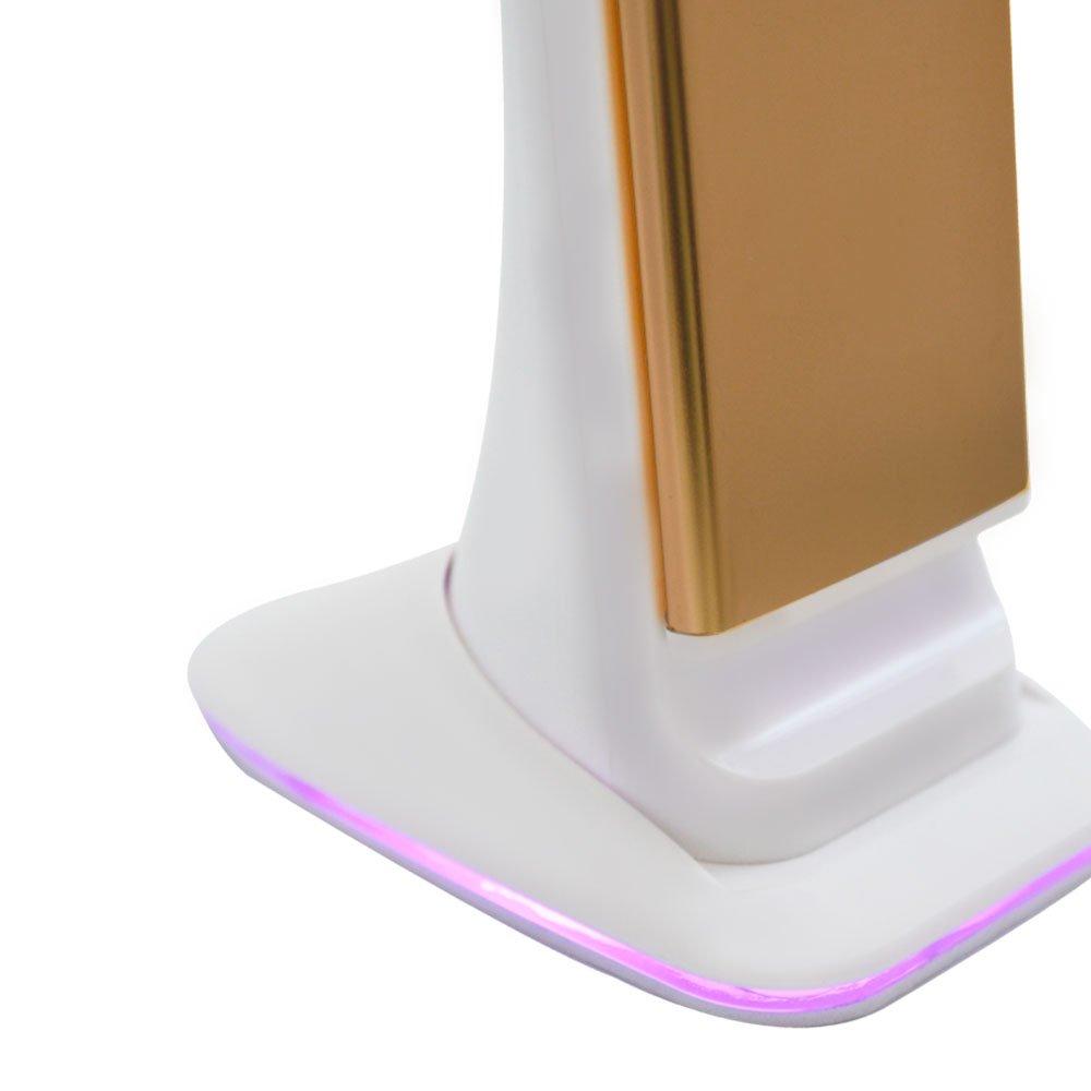 Luminária Led Touch de Mesa Dourado 3W à Bateria com Relógio - Imagem zoom