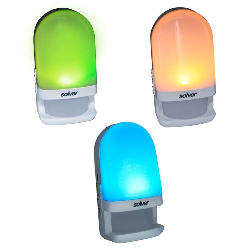 Luz Noturna Colorida 0,7W 4000 - 4800 K com Sensor de Luminosidade  - Imagem zoom