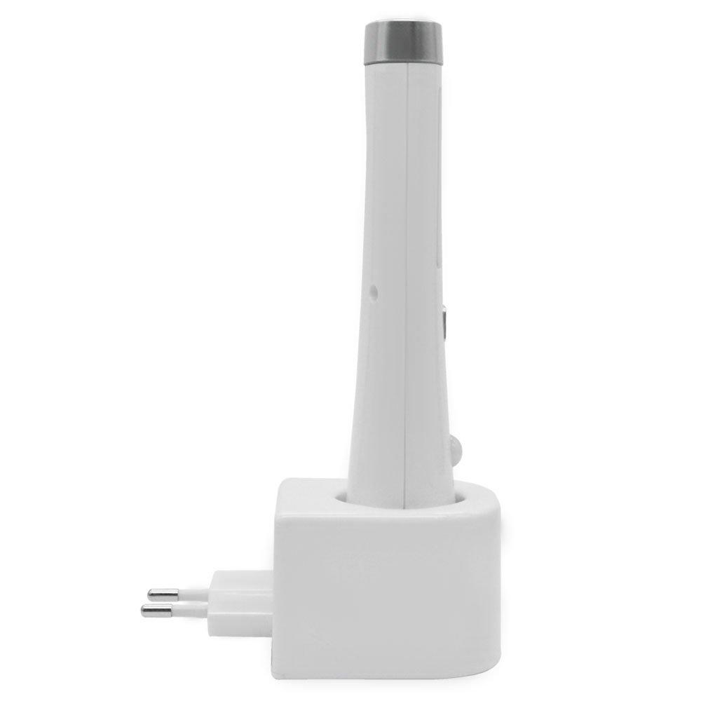 Luminária LED Slim com Sensor e Lanterna 2Wà Bateria de Lítio SOLVER SLM301 R$63 99 Loja
