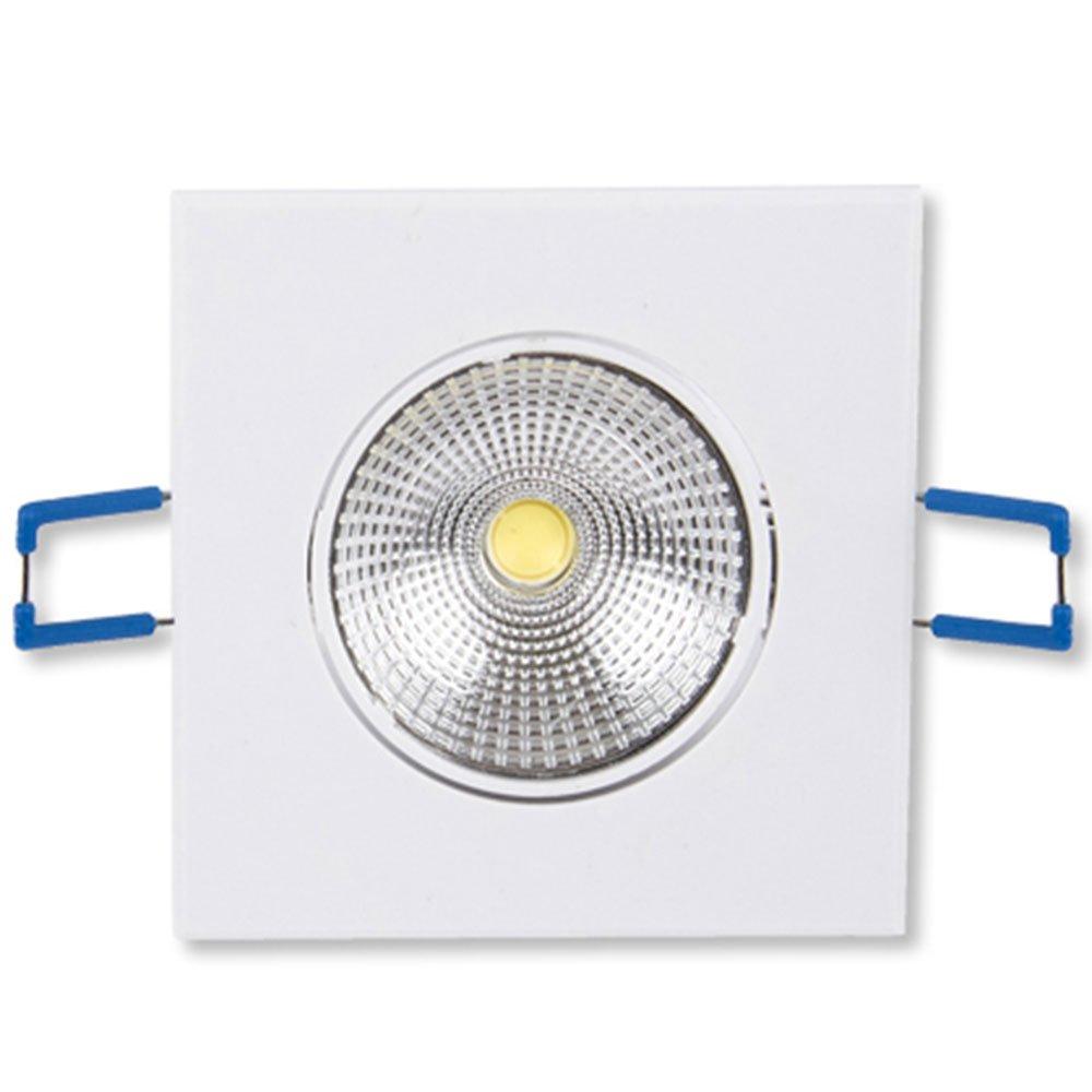 Lâmpada Led Spot Light Quadrado 300 Lúmens 5W 3000K Amarela para Embutir - Imagem zoom