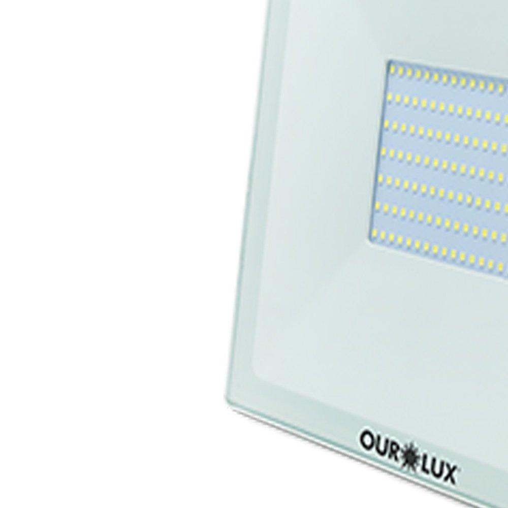 Projetor Led Slim 30W Bivolt BRANCO 6500K - Imagem zoom