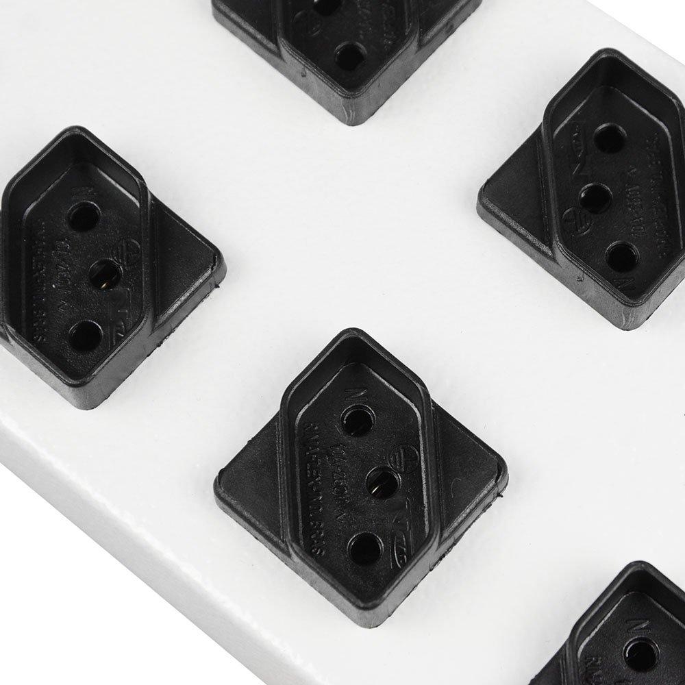 Filtro de Linha com 10 Tomadas Diagonal Bivolt - Imagem zoom