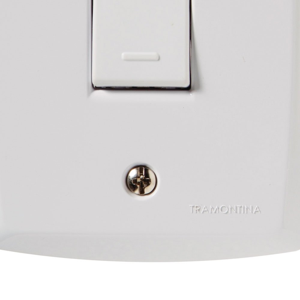 Kit Conjunto TRAMONTINA-57145001 de 1 Interruptor Simples 10A Branco com 10 Unidades - Imagem zoom
