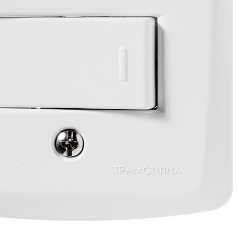 Kit Conjunto TRAMONTINA-57145040 com 2 Interruptores Simples 10A 250V Branco com 5 Unidades - Imagem zoom