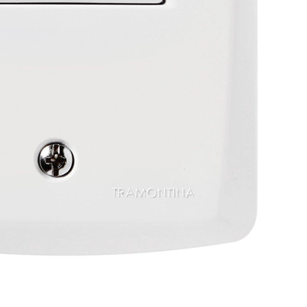 Kit Conjunto TRAMONTINA-57145010 Tomada Branco 2P+T 10A 250V com 20 Unidades - Imagem zoom