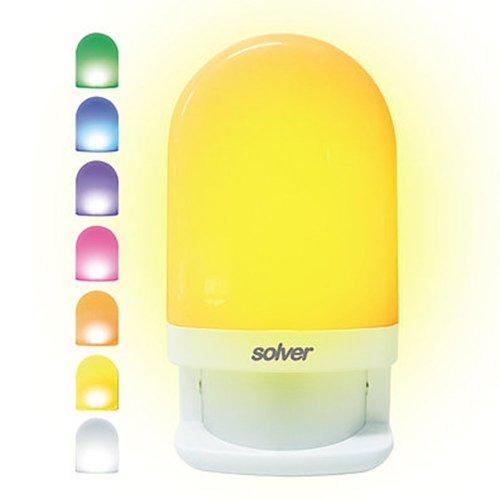 luz noturna colorida 0,7w 4000 - 4800 k com sensor de luminosidade 110v